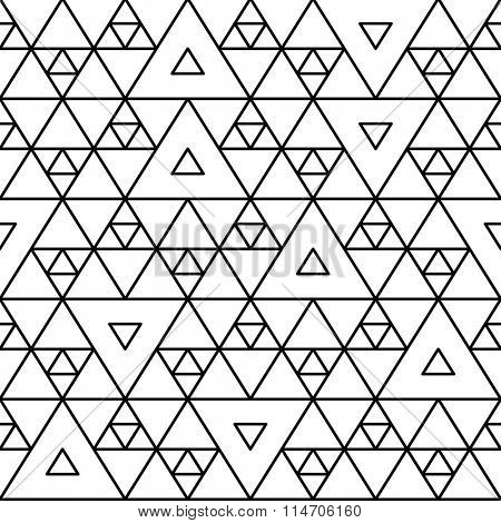 Geometric pattern background. Seamless triangular vector