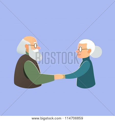elderly couple, Valentine's Day, love and marriage