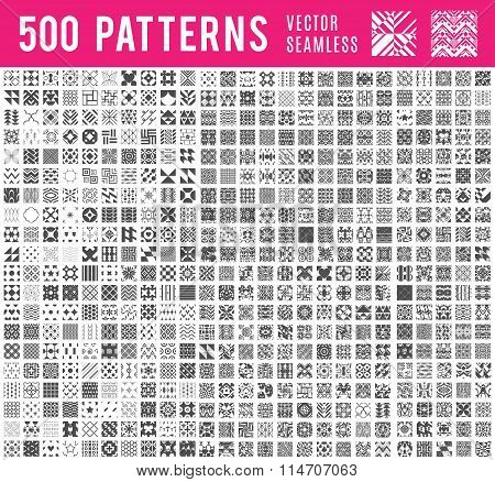 Universal different vector seamless patterns