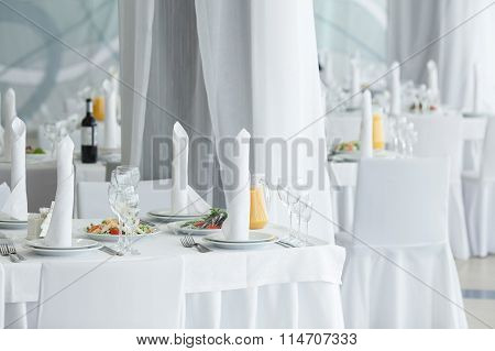 White Restaurant Interior