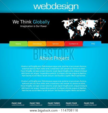 Web site design template easy all editable