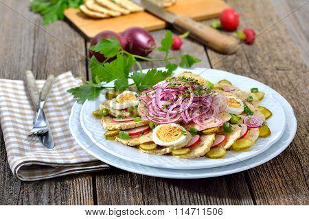 Bavarian dumpling salad