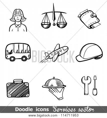 Services sector icons