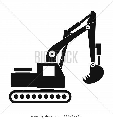Excavator black simple icon