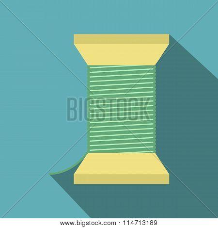 Thread bobbin flat icon