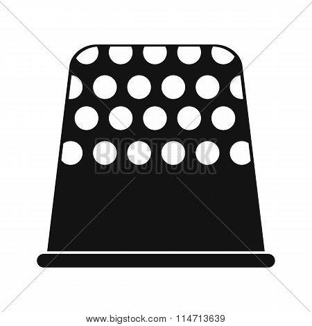 Thimble black simple icon