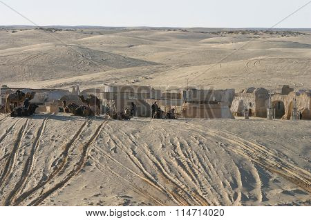 Star Wars Scenery Ong Jemel Near Nefta Tunisia