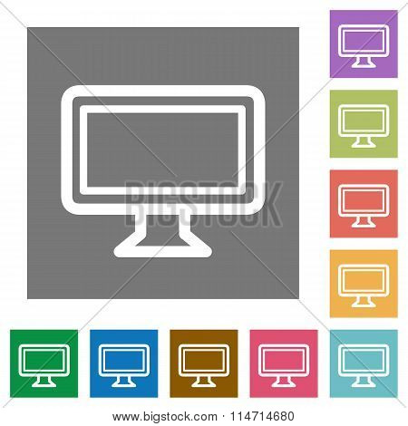 Monitor Square Flat Icons