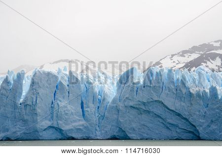 Up close and personal - the icy and incredibly blue face of the Perito Moreno Glacier seen from a boat Glaciers National Park Patagonia Argentina