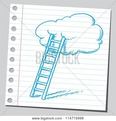 Ladder and cloud