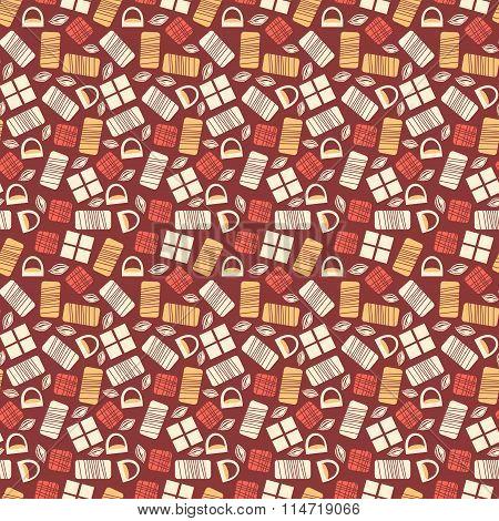 Chocolate bars seamless pattern