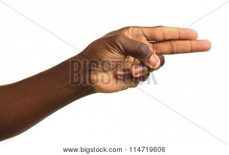 Human hand isolated on white