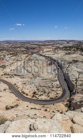 Head Of The Rocks Overlook At Scenic Byway 12 In Utah