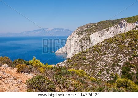 Cliff Coast Of Zakynthos Island
