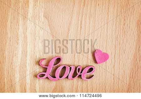 Valentine's Wooden Background