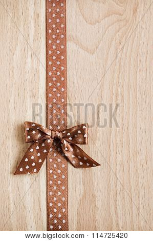 Background With Ribbon And Bow