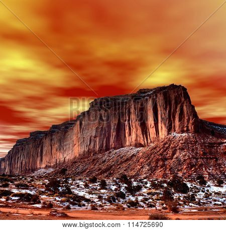 Sunset Skies Monument Valley