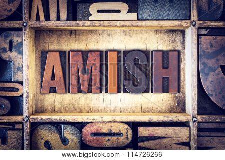 Amish Concept Letterpress Type