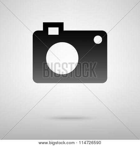 Digital camera black icon
