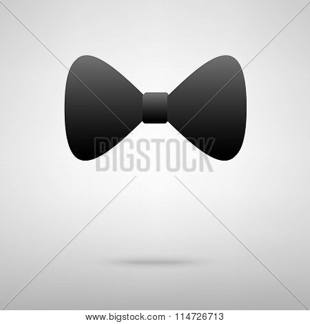 Bow tie black icon