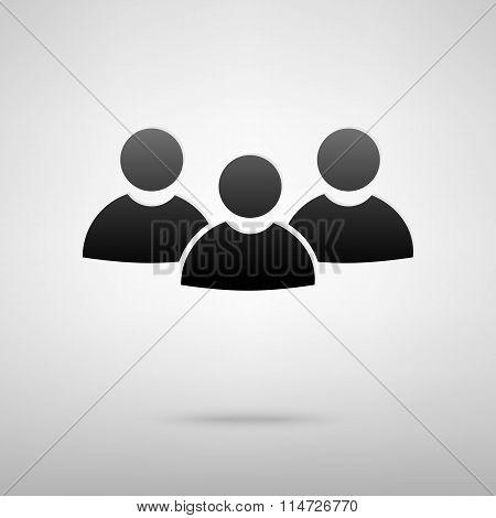 Users society black icon
