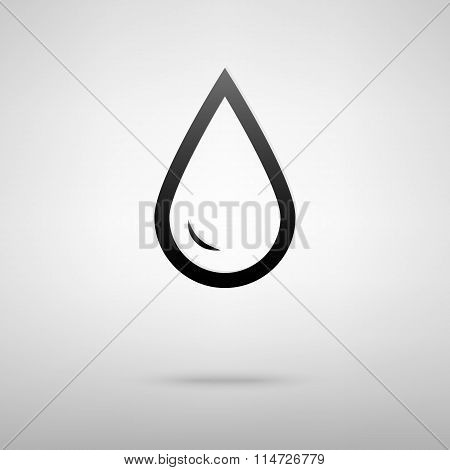 Drop of water black icon