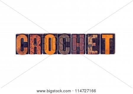 Crochet Concept Isolated Letterpress Type