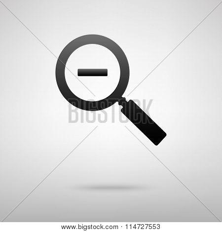 Zoom black icon