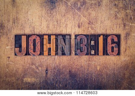 John 316 Concept Wooden Letterpress Type