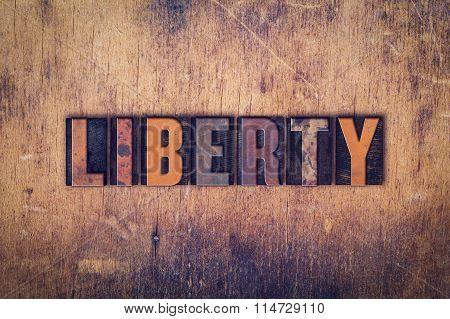 Liberty Concept Wooden Letterpress Type