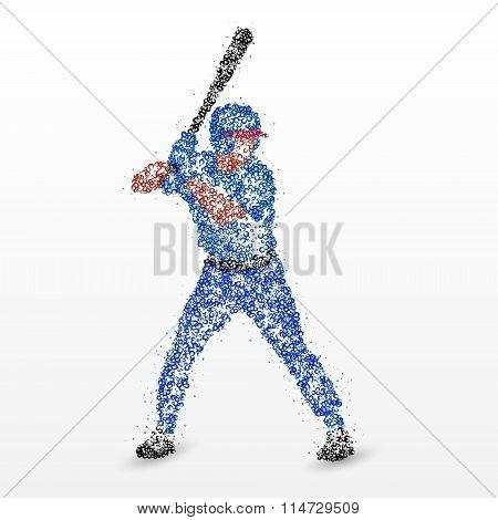 baseball, hockey stick, abstraction