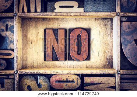 No Concept Letterpress Type