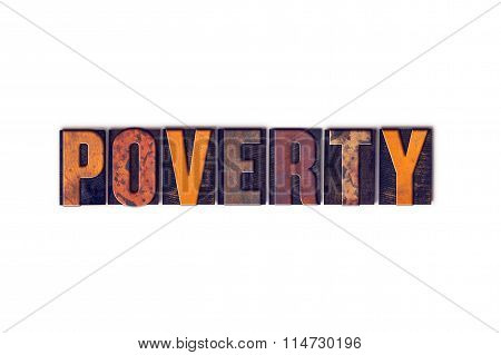 Poverty Concept Isolated Letterpress Type