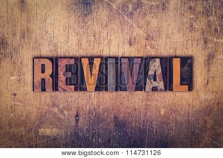 Revival Concept Wooden Letterpress Type