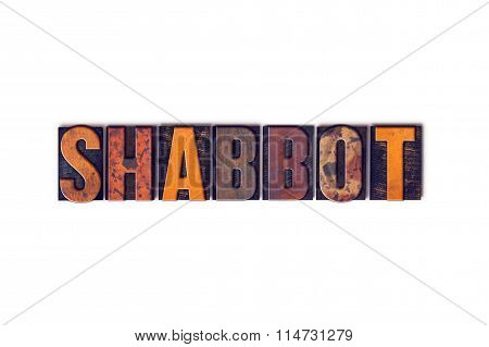 Shabbot Concept Isolated Letterpress Type