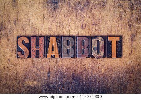 Shabbot Concept Wooden Letterpress Type