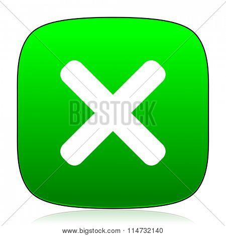 cancel green icon for web and mobile app