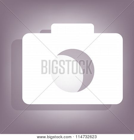 Camera icon with shadow
