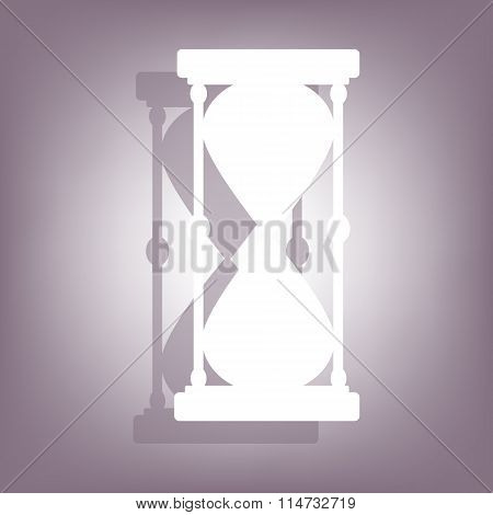 Hourglass icon with shadow
