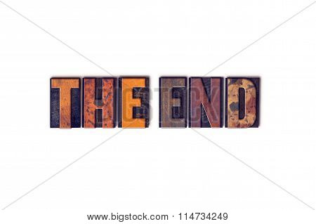 The End Concept Isolated Letterpress Type