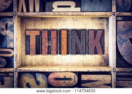 Think Concept Letterpress Type