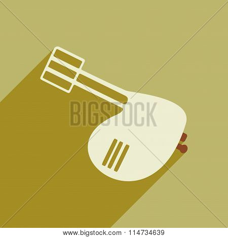 Flat icon with long shadow kitchen mixer