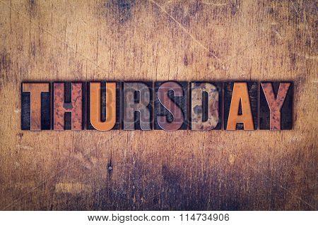 Thursday Concept Wooden Letterpress Type