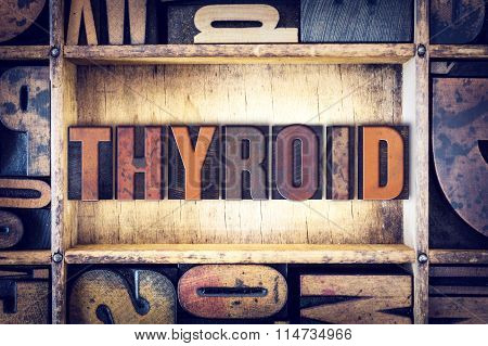 Thyroid Concept Letterpress Type