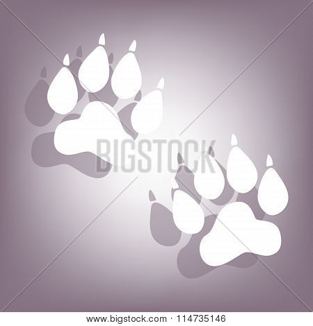 Animal Tracks icon with shadow