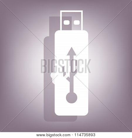 Vector usb flash drive