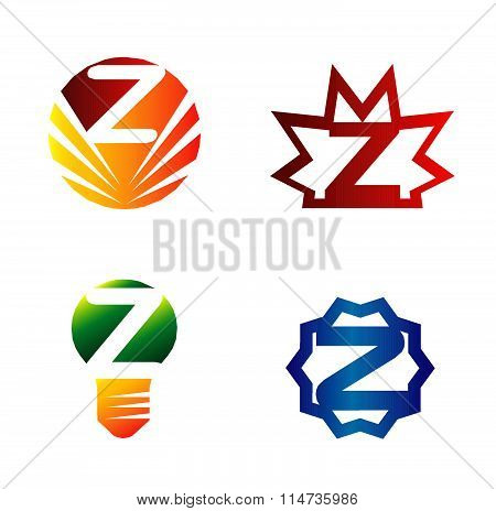 Set of alphabet symbols and elements of letter Z, such a logo