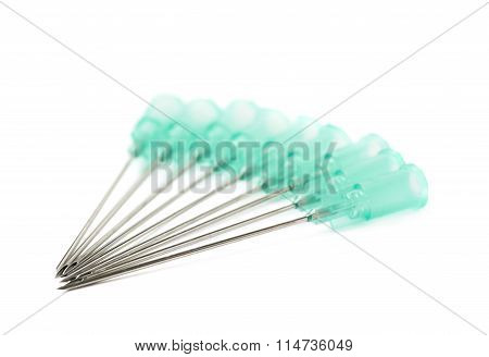 Pile of medical needles