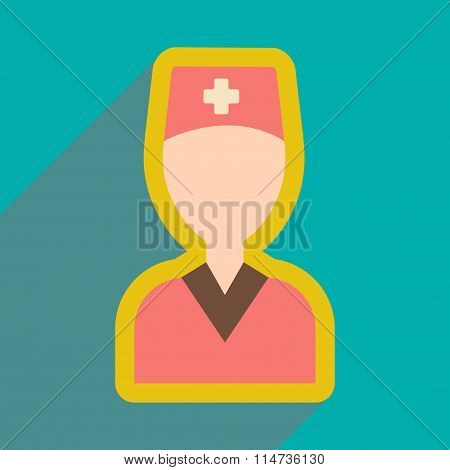 flat icon with long shadow obstetrician doctor