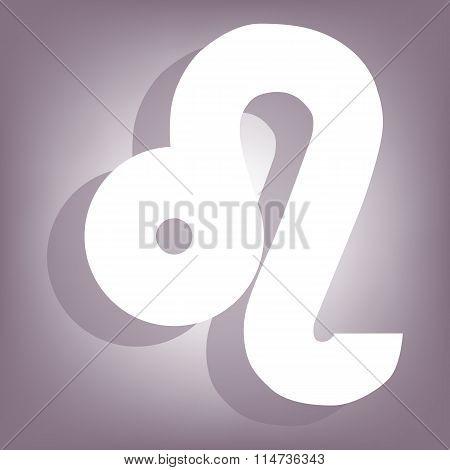 Zodiac icon with shadow